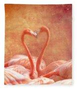 Flamingo Love Fleece Blanket