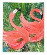 Flamingo Mask 1 Fleece Blanket