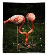 Flamingo Mirrored Fleece Blanket