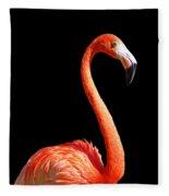 Flamingo Portrait Fleece Blanket