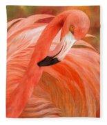 Flamingo - Spirit Of Balance Fleece Blanket