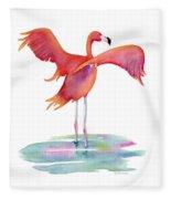 Flamingo Wings Fleece Blanket