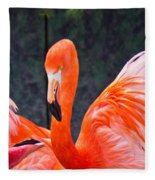Flamingos Fleece Blanket