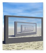 Flat Screen Desert Scene Fleece Blanket