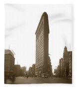 Flatiron Building New York City Circa 1904 Fleece Blanket