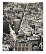 Flatiron Building - New York City Fleece Blanket