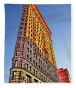 Flatiron Building Profile Fleece Blanket