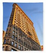 Flatiron Building Profile Too Fleece Blanket