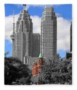 Flatiron Building Toronto 2c Fleece Blanket