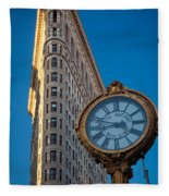 Flatiron Clock Fleece Blanket