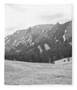 Flatirons Boulder Colorado Winter View Bw Fleece Blanket