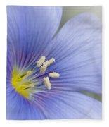 Blue Flax Close-up Fleece Blanket