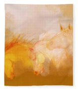 Flaxen Manes Fleece Blanket