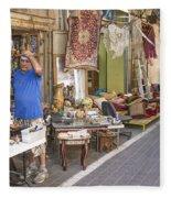 Flea Market Shop In Tel Aviv Israel Fleece Blanket