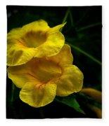 Fleurs Jaunes Fleece Blanket