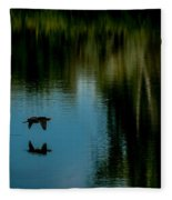 Flight Of The Cormorant Fleece Blanket