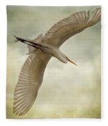 Flight Of The Egret Fleece Blanket