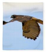 Flight Of The Hawk Fleece Blanket