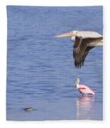 Flight Of The Pelican Fleece Blanket