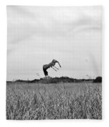 Flight Over The River Of Grass Fleece Blanket