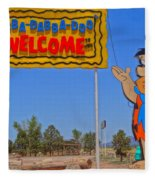 Flinstones Bedrock City In Arizona Fleece Blanket