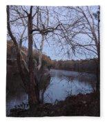 Flint River 4 Fleece Blanket