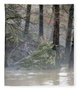 Flint River Rising Fleece Blanket