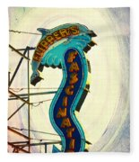 Flippers Facination - Wildwood Boardwalk Fleece Blanket