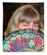 Flirting With The Fan Fleece Blanket