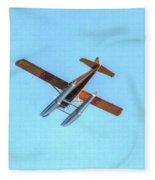 Float Plane Fly Over Pacific Northwest Fleece Blanket