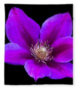 Floating Clematis Fleece Blanket