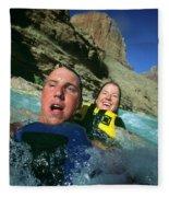 Floating Down The Little Colorado River Fleece Blanket