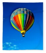 Floating Free In A Hot Air  Balloon Fleece Blanket