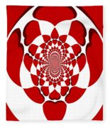Floating Hearts Fleece Blanket