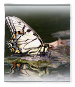 Floating In Water - Swallowtail -butterfly Fleece Blanket