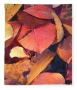 Floating Leaves Fleece Blanket