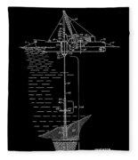Floating Oil Rig Patent Fleece Blanket