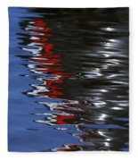Floating On Blue 14 Fleece Blanket