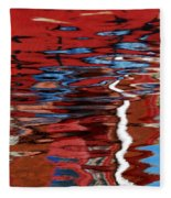 Floating On Blue 28 Fleece Blanket