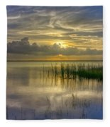 Floating Over The Lake Fleece Blanket