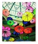 Floating Umbrellas In Las Vegas  Fleece Blanket