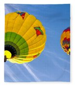 Floating Upward Hot Air Balloons Fleece Blanket