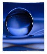 Floating Water Drop Fleece Blanket