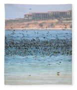 Flocking At Terranea Fleece Blanket