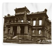 James Clair Flood Mansion Atop Nob Hill San Francisco Earthquake And Fire Of April 18 1906 Fleece Blanket
