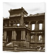 James Clair Flood Mansion Atop Nob Hill San Francisco Earthquake And Fire Of April 18 1906 Fleece Blanket