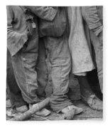 Flood Refugees, 1937 Fleece Blanket