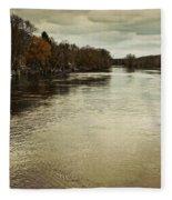 Flood Waters Milwaukee River 2013 Fleece Blanket