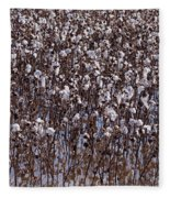 Flooded Cotton Fields Fleece Blanket