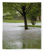 Flooded Park Fleece Blanket